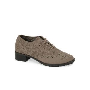 Комфортни обувки Aetrex EB402 цвят кафяв, стреч
