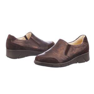 Удобни дамски обувки KAINA SLIP ON BRONZ кафяви