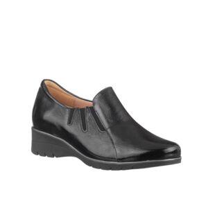 Удобни дамски обувки PS LAK ELASTIC черен