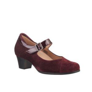 Удобни дамски обувки PS MJ VELOUR HEEL бордо