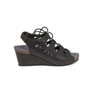 Ортопедични сандали черни EW800
