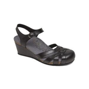 Ортопедични сандали затворени пръсти черни EW690