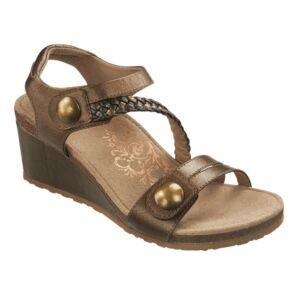 Удобни дамски сандали EW454 бронзови