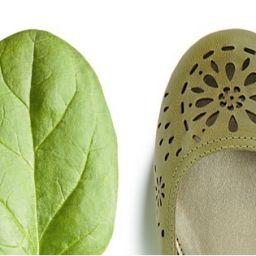 Листо от спанак до равни обувки