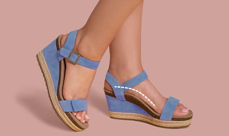 Ортопедични сандали с поддръжка на свода